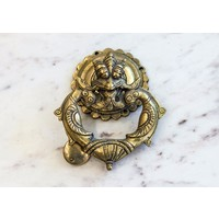 Brass Dragon Face Door Knocker from India