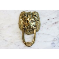 Brass Lion's Head Door Knocker