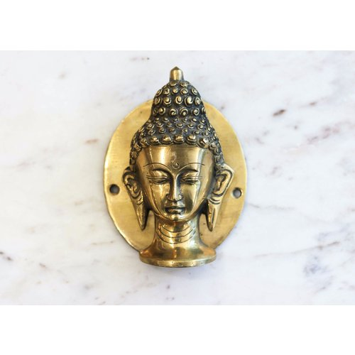 Handmade Brass Buddha Door Knocker from India