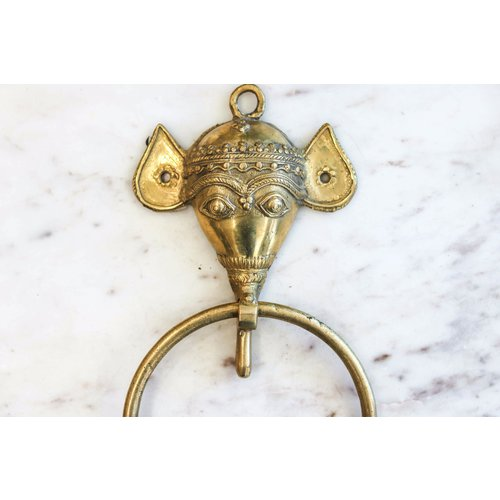Brass Handmade Elephant Door Knocker from India