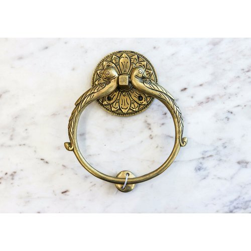 Brass Peacock Door Knocker from India