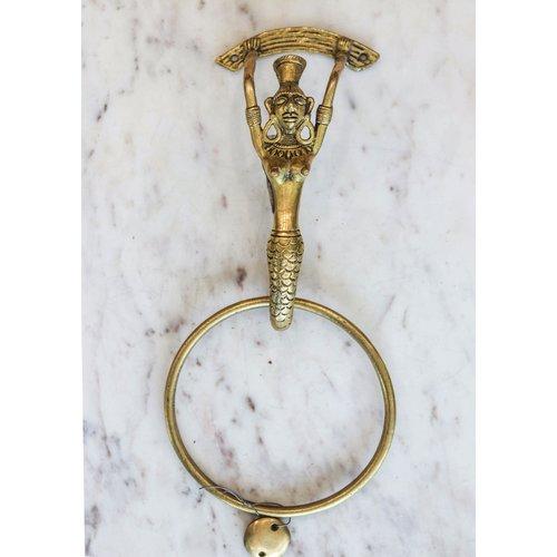 Brass Mermaid Door Knocker from India
