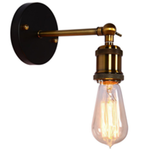 Brass Industrial Sconce Light without Shade