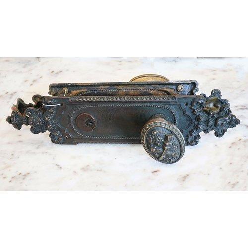Pair of Brass Victorian Door Knobs with Escutcheons