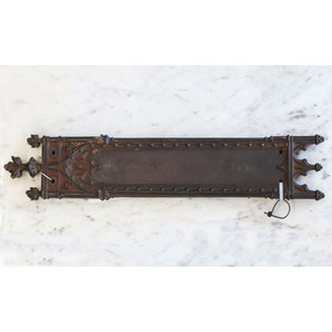 Pair of Gothic Cast Iron Push Plates