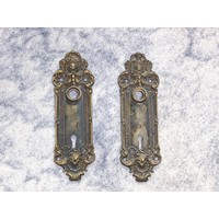 Victorian Antique Door Plates - Pair