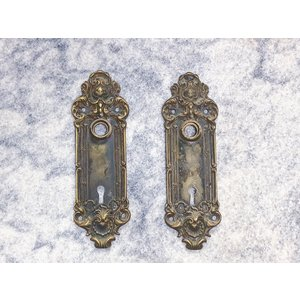 Victorian Antique Door Plates - Pair