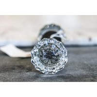 Fluted Glass Door Knobs Pair - Misc.