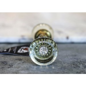 Round Glass Door Knob Pair