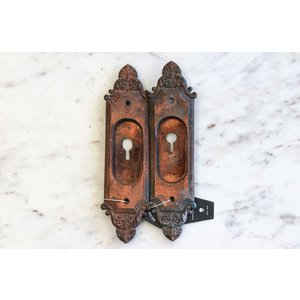 Pair of Copper Victorian Escutcheons
