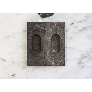 Pair of Cast Iron Eastlake Escutcheons