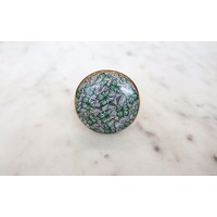 Green Butterfly Swarm Cabinet Knob from India