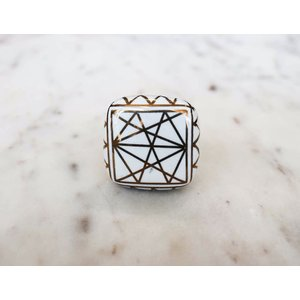 Square Flat Ceramic Knob from India