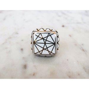 Square Flat Ceramic Knob from India