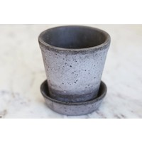 Grey Julie Planter with Saucer from Italy(Small)
