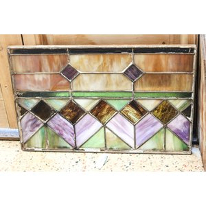 Stained Glass- Purple & Green