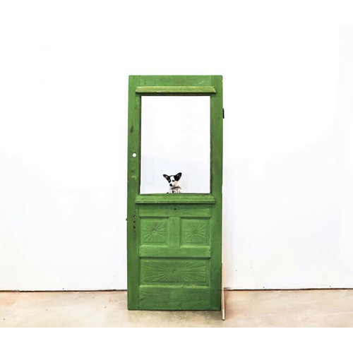 3 Panel Half Light Door(Green)
