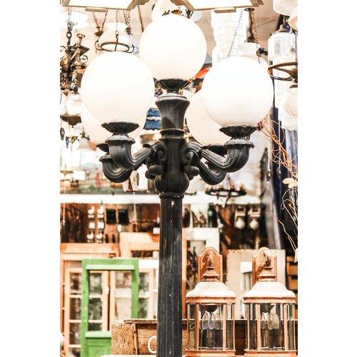 Black 5 Globe Aluminum Street Lamp