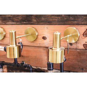 Modern Brass Indoor Sconce Light