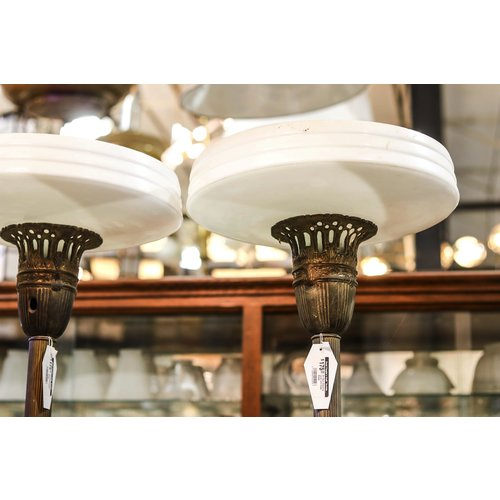 Art Deco Standing Lamp with Glass Shade