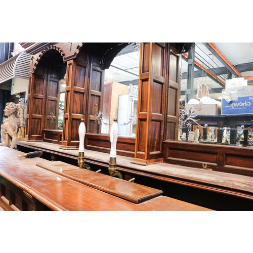 Wooden Bar-Back with Mirror