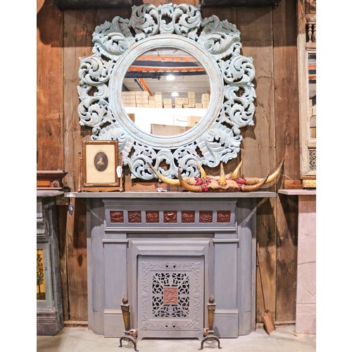 Steel and Wood Fireplace Mantel