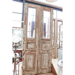 2 Panel Half Light Double Doors from France