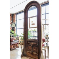 1 Panel 1 Light Arched Door with Frame