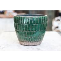 Green Terra-Cotta Tiled Planter