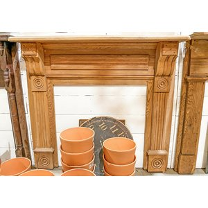 Wooden Arts & Crafts Mantel