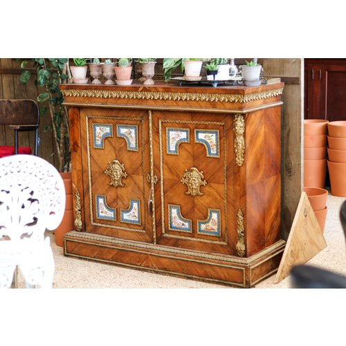 Victorian Style 2 Door Cabinet with Cherubim