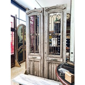 1 Panel Double Doors with Ironwork from Egypt