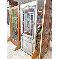 1 Panel 13 Light Pantry Door with Stained Glass