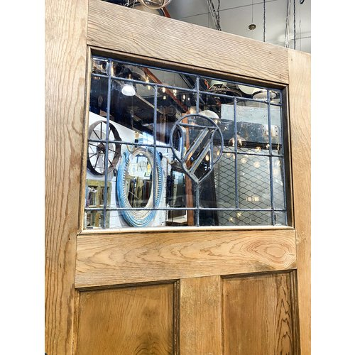2 Panel 1 Light Door with Leaded Glass Crest