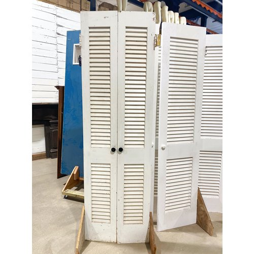 Pair of White Louvered Doors