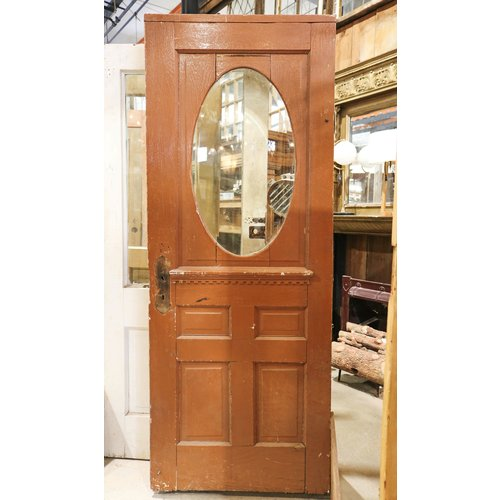 4 Panel Half Light Door with Oval Glass