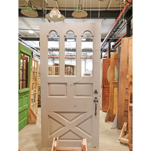 6 Panel 3 Light Farmhouse Style Door
