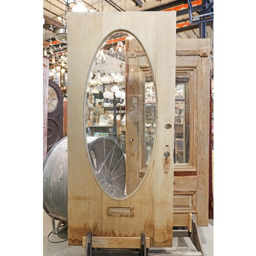 Oval Beveled Glass Door