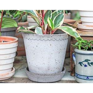 Helena 16cm Pot & Saucer Grey