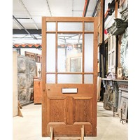 9 Light / 2 Panel Wood Door