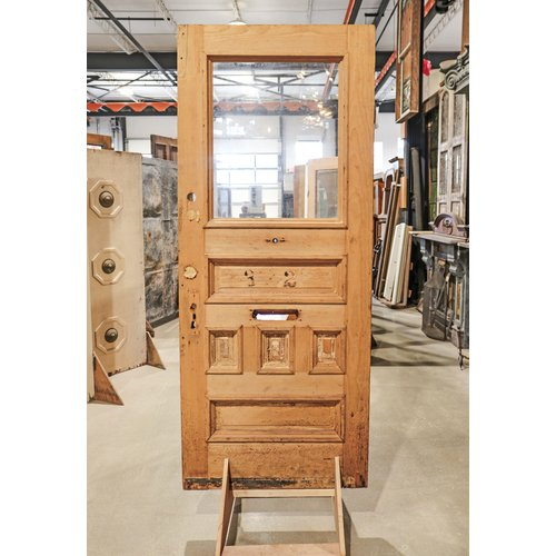 5 Panel Half Light Door with Mail Slot