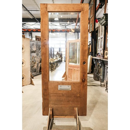 Large Single Beveled Glass Door with Mail Slot