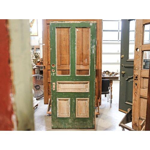 3 Panel 2 Light Door with Green Paint