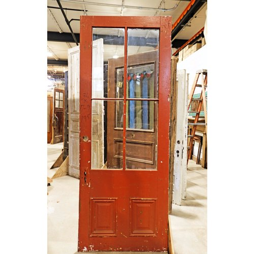 Large 2 Panel 4 Light Door(Burgundy)