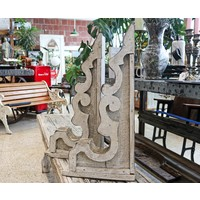 Pair of White Wooden Corbels