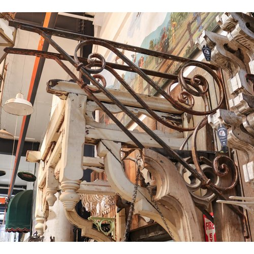Large Wrought Iron Angle Brackets - Pair