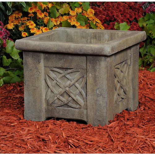 Ancient Aged Square Armilliary Planter