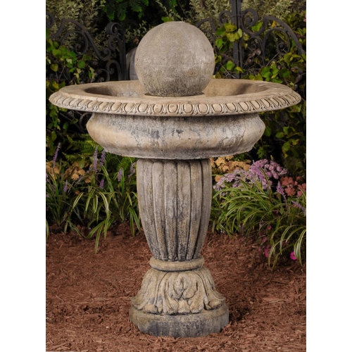 Light Walnut Ball Finial Fountain