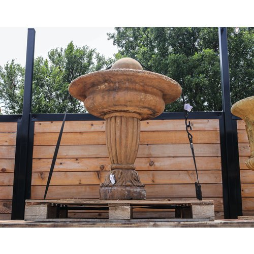 Light Walnut Ball Finial Fountain