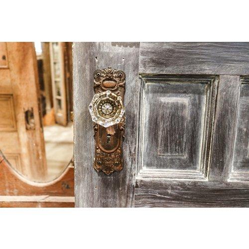 Ornate Door with Fleur-de-lis Glass